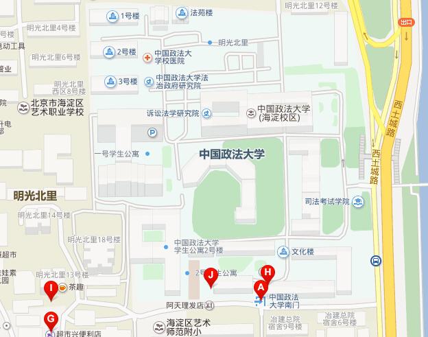 中国政法大学地图