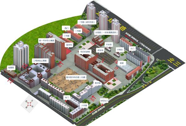 中国政法大学校园平面图